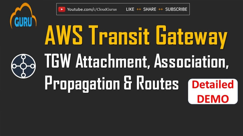 AWS Transit Gateway Tutorial - TGW Attachment and Peering